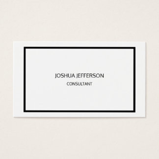 Modern Plain Black White Attractive Two Sided Business Card