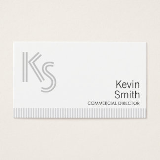 Modern Plain Commercial Director Business Card