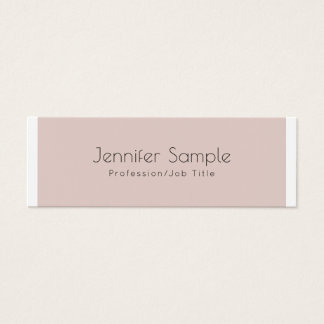 Modern Plain Creative Design Glamour Trendy Mini Business Card