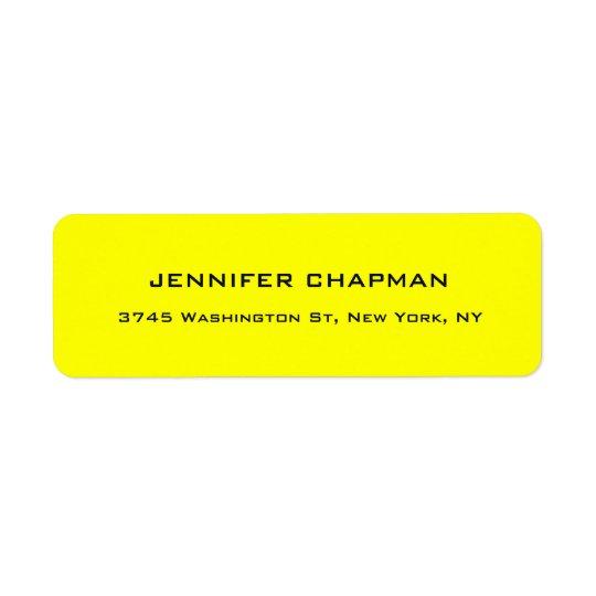 Modern Plain Elegant Professional Lemon Yellow
