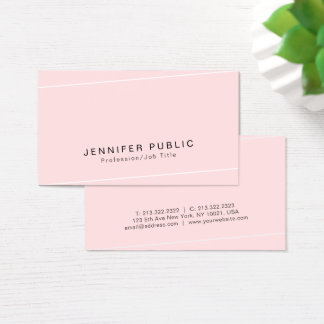 Modern Plain Glamour Premium Silk Finished Luxe Business Card