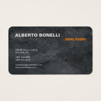 Modern Plain Minimalist Grey Professional Artistic Business Card