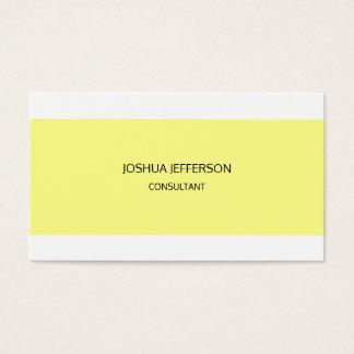 Modern Plain Minimalist Two Sided Business Card