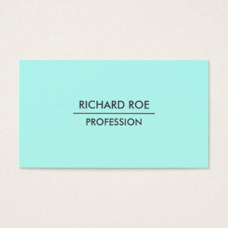Modern Plain Professional Cyan Business Cards
