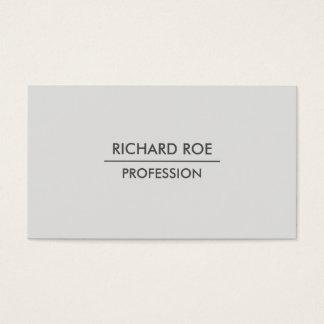 Modern Plain Professional Grey Business Cards