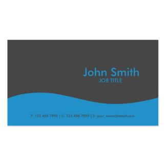 Modern Plain Simple Hi Tech Blue Pack Of Standard Business Cards