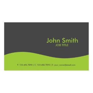 Modern Plain Simple Hi Tech Green Pack Of Standard Business Cards