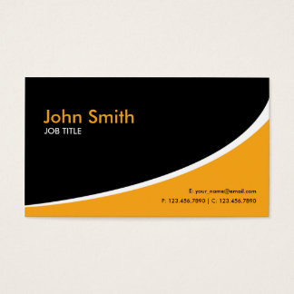 Modern Plain Simple Hi Tech Orange Business Card