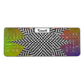 Modern Plasma by Kenneth Yoncich Wireless Keyboard