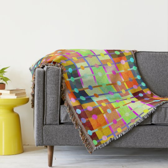 Modern Playful Geometric Design Throw Blanket