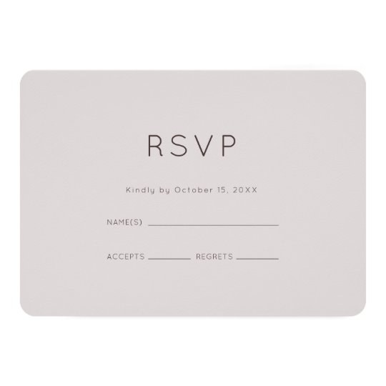Modern Plum Wedding RSVP Card