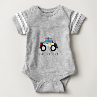 Modern Police Car Design Baby Bodysuit