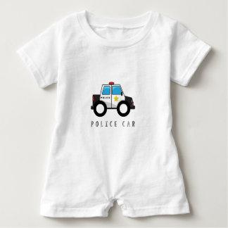 Modern Police Car Design Baby Romper