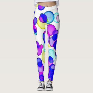 Modern Polka Dot Bubbles Leggings