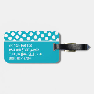 Modern Polka Dot Pattern with Address Phone Tags For Luggage