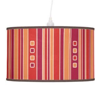 Modern Pomegranate Stripes & Boxes Hanging Pendant Lamp
