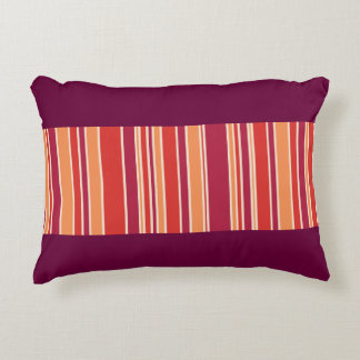 Modern Pomegranate Stripes Decorative Pillow