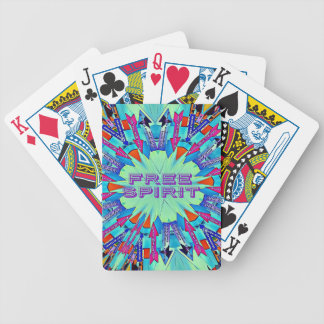 Modern Pop Colors Arrows Pointing Free Spirit Bicycle Playing Cards