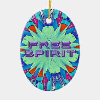 Modern Pop Colors Arrows Pointing Free Spirit Ceramic Ornament