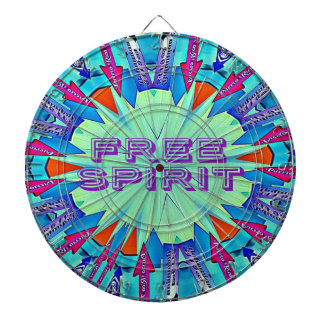 Modern Pop Colors Arrows Pointing Free Spirit Dartboard