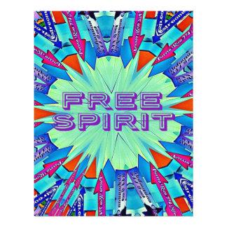 Modern Pop Colors Arrows Pointing Free Spirit Letterhead