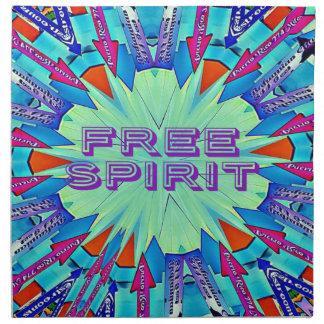 Modern Pop Colors Arrows Pointing Free Spirit Napkin