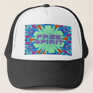 Modern Pop Colors Arrows Pointing Free Spirit Trucker Hat