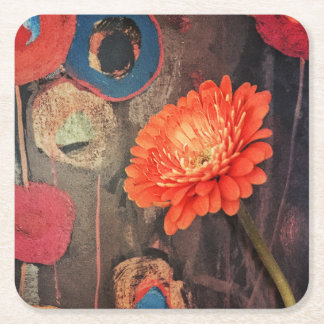 Modern Poppies Coasters