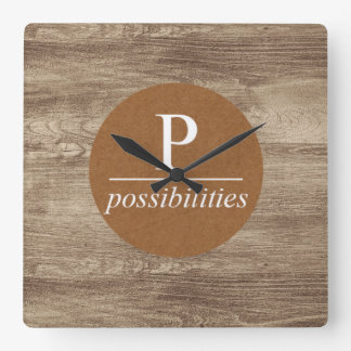Modern Possibilities Wall Clock