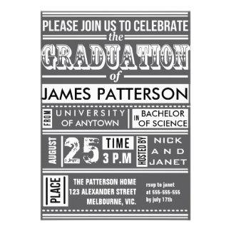 Modern poster graduation party custom announcement