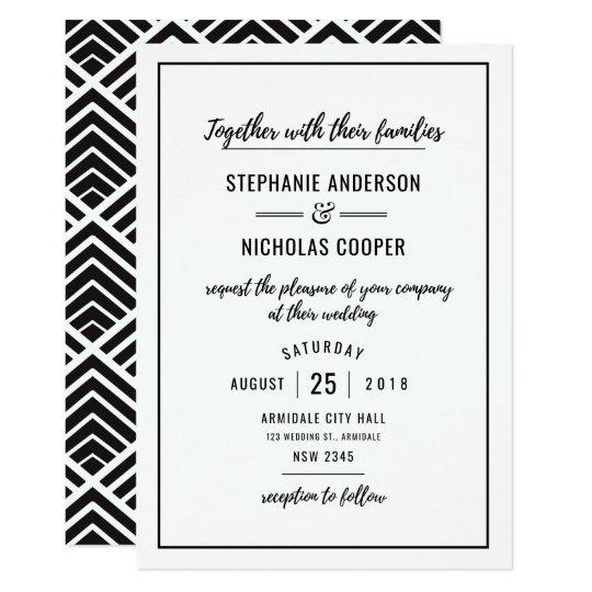 Modern poster wedding invitation