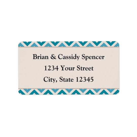 Modern Pre-printed Blue Christmas Address Labels