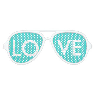 modern preppy girly chic aqua teal blue turquoise aviator sunglasses