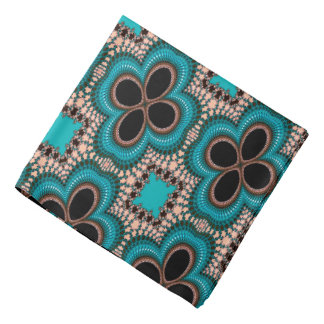 Modern Prertty Abstract Blue And Black Seamless Bandana