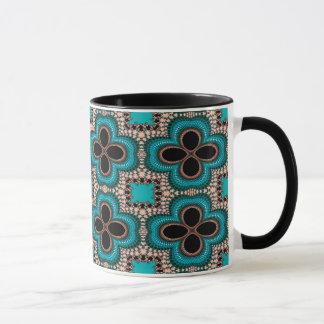 Modern Prertty Abstract Blue And Black Seamless Mug
