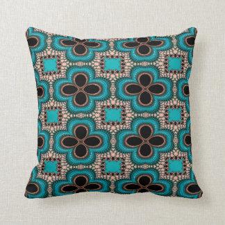 Modern Prertty Abstract Blue And Black Seamless Throw Pillow