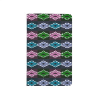 Modern Pretty Abstract Green Purple And Blue Journals