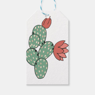 Modern Prickly Pear Cactus Gift Tags