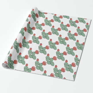 Modern Prickly Pear Cactus Wrapping Paper