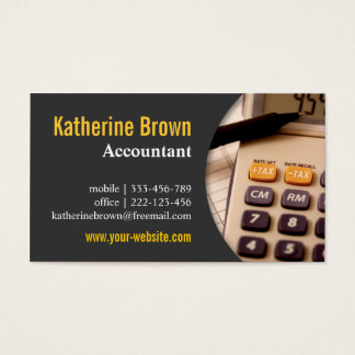 Tax services gifts tax services gift ideas on zazzle modern professional accountant tax calculator business card colourmoves