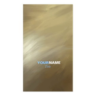 Modern Professional Brush Stroke Gold Business Cards