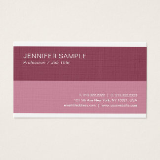 Modern Professional Chic Bordeaux Color Plain Luxe Business Card