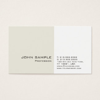 Modern Professional Classy Simple Plain Business Card