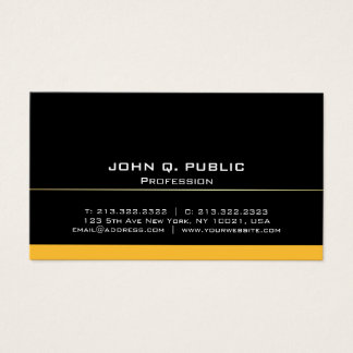 Modern Professional Elegant Black and Gold Simple Business Card