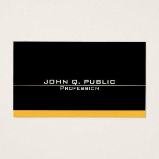 Modern Professional Elegant Black Gold Simple Business Card