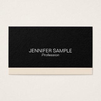 Modern Professional Elegant Black White Simple Business Card