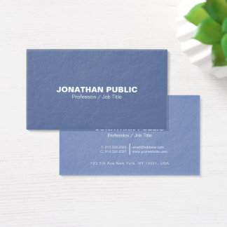 Modern Professional Elegant Blue Ultra Thick Luxe Business Card