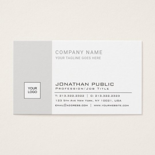 Modern Professional Elegant Logo Plain Corporate Business Card