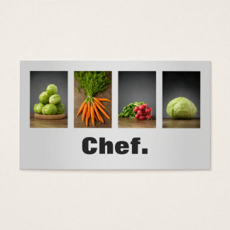 Modern Professional Elegant Nutrition Chef Business Card