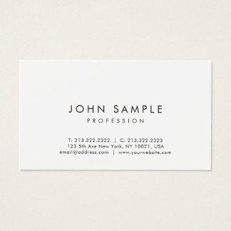Modern Professional Elegant Simple Design White Business Card